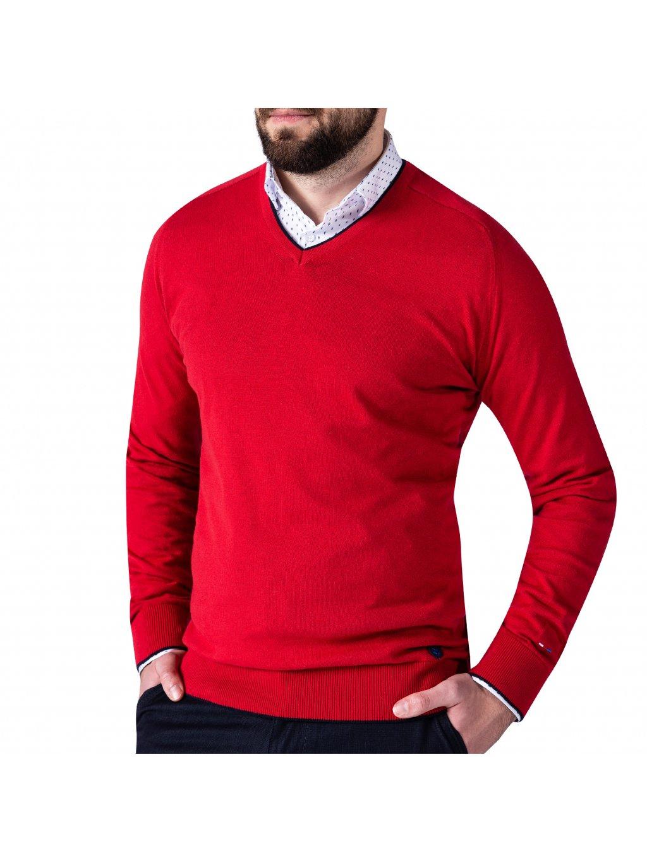 Pánský svetr DARREN 2 červený