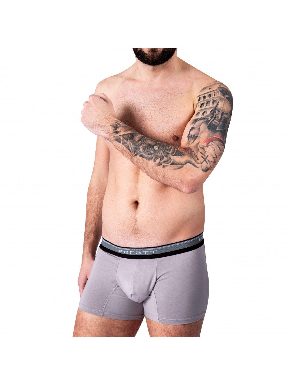 Pánské boxerky z modalu - šedé