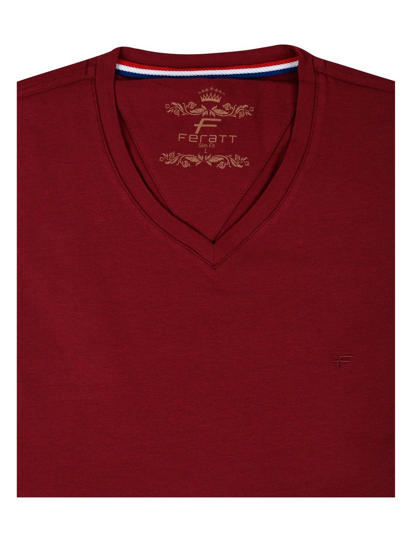 tričko KANSAS V vínové