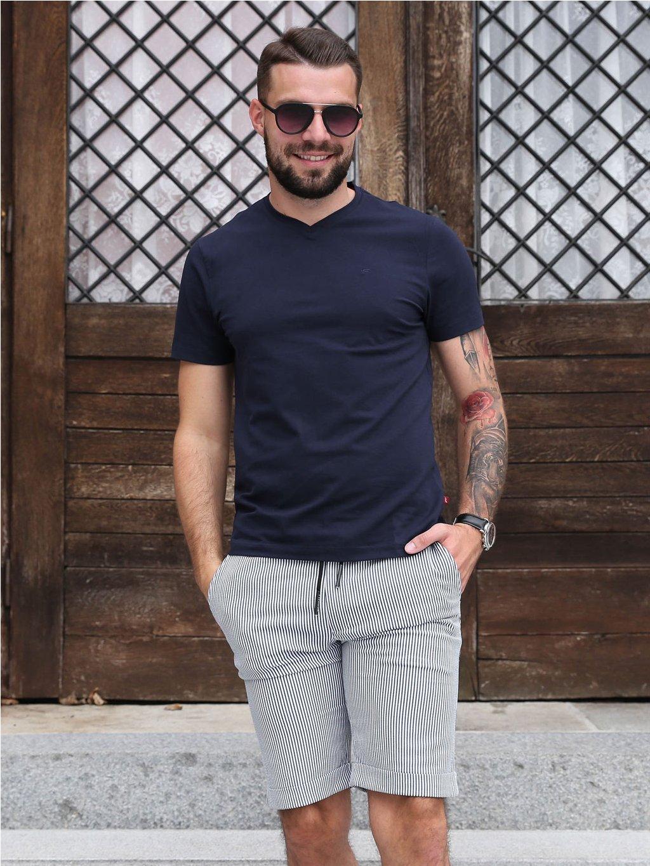 tričko KANSAS V tmavě modré