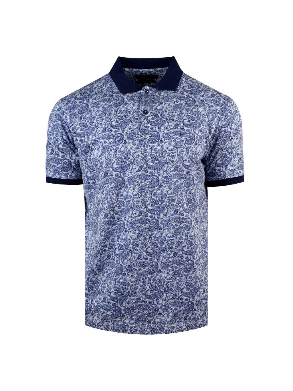 Polo CASHMERE modré-vzor