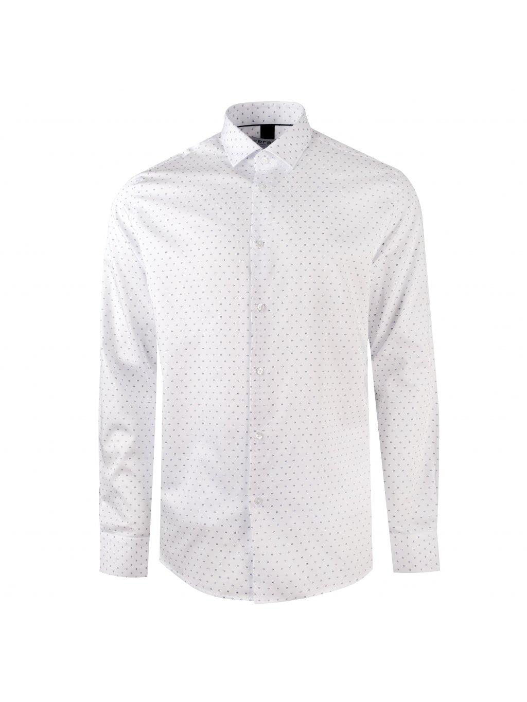 Košile JOHNNIE Regular bílá se vzorem III