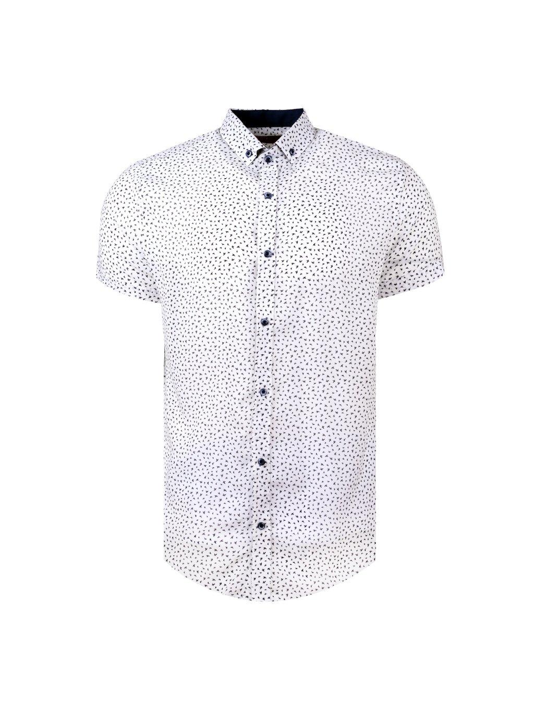 košile BAMBOO Slim fit krátký rukáv - bílá