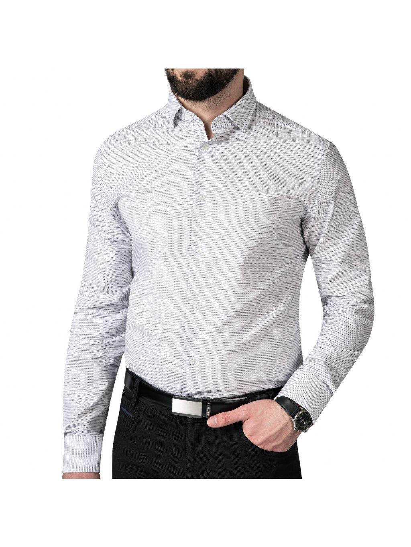 košile PERFECT Regular světle šedá