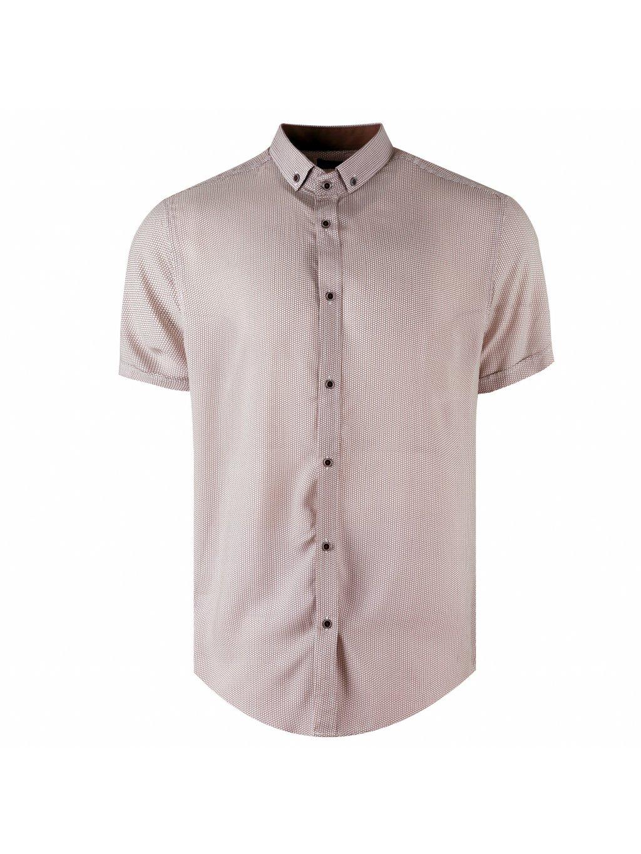 košile BAMBOO MILANO Regular krátky rukáv hnědá