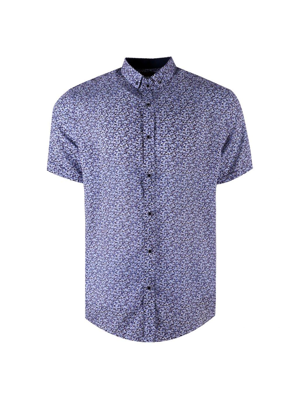 košile BAMBOO 20 regular krátký rukáv modrá