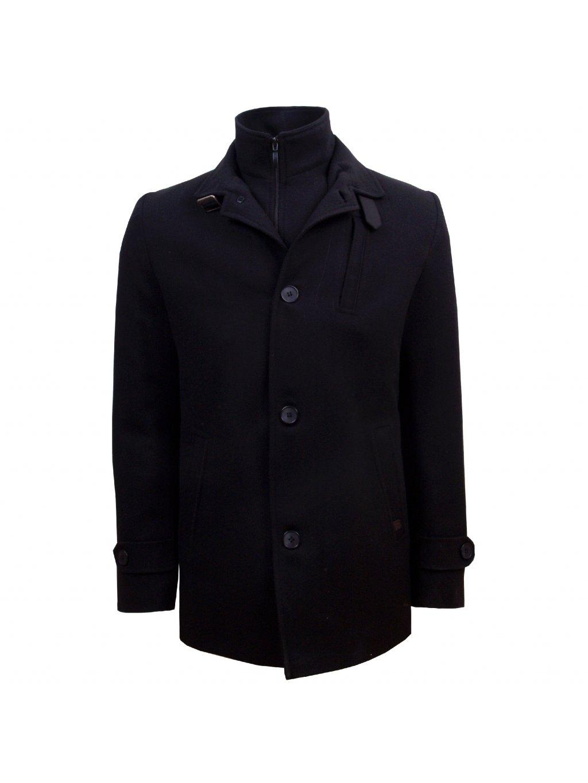 Pánský vlněný kabát CHARLES - černý