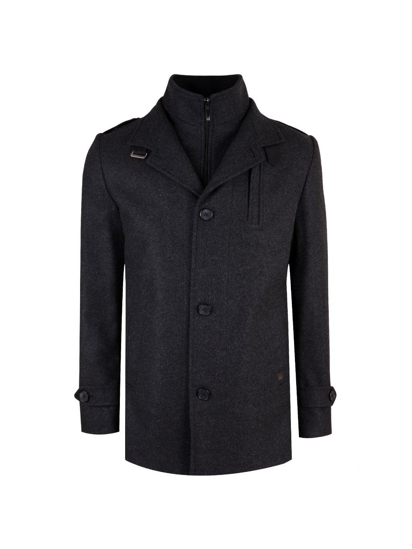 Pánský vlněný kabát CHARLES - antracit