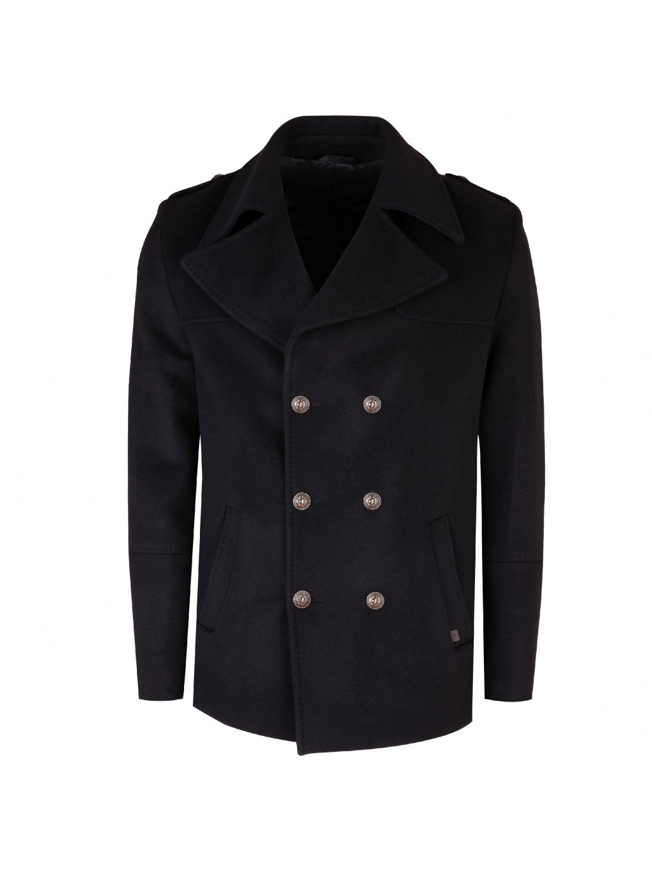 Pánský vlněný kabát ANTONIO - černý