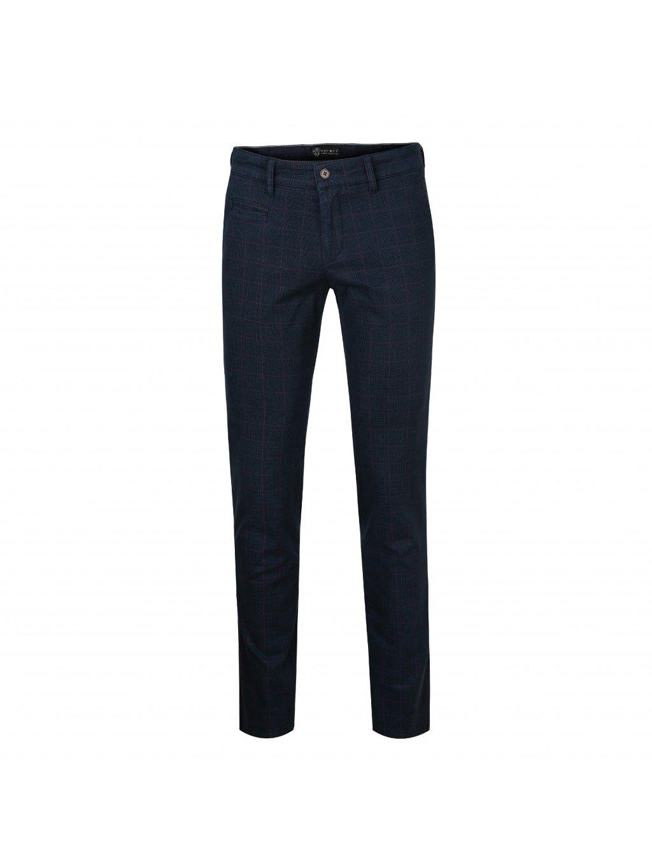Kalhoty OLIVER modré kárované