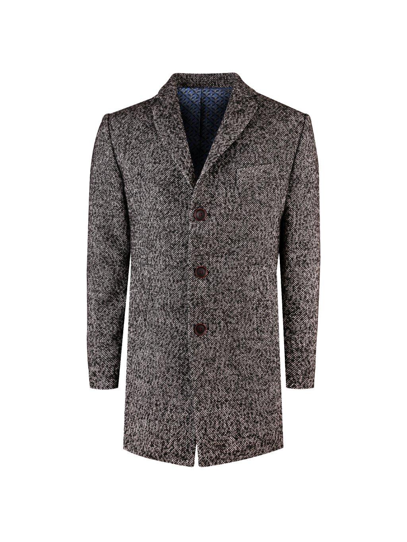 Pánský kabát WACO šedočerný