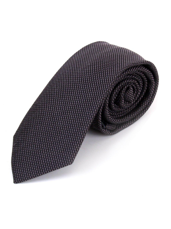 Vlněná kravata - šedočerná