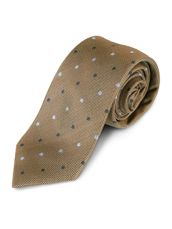 Hedvábná kravata zlatá