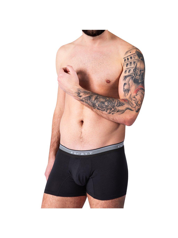 Pánské boxerky z Modalu - černé