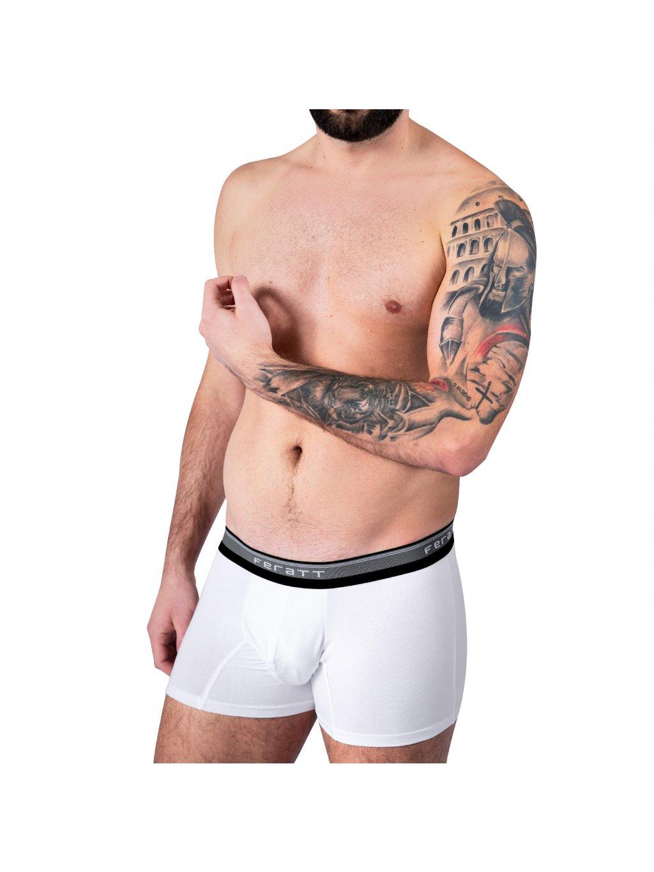 Pánské boxerky z modalu - bílé
