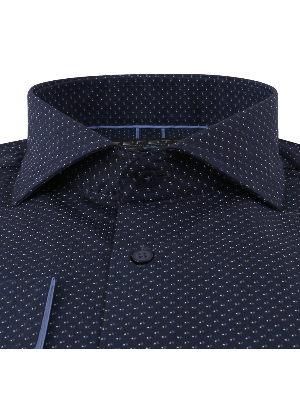 Pánská košile LEON Slim - bílomodrý vzor