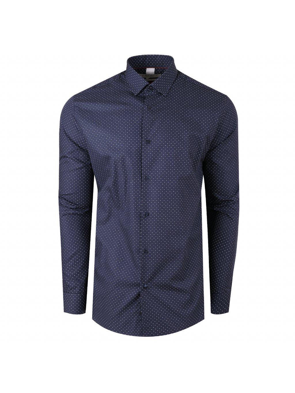 Pánská košile LEO Regular - bílomodrý vzor