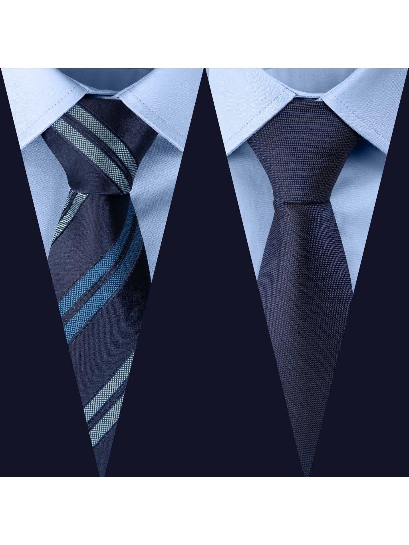 Set 4: Košile F-LINE Modern modrá + 2 kravaty