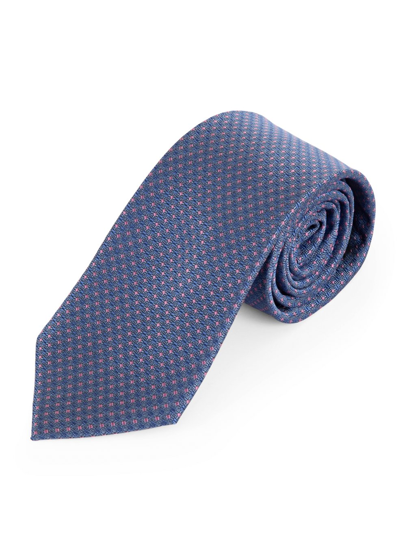 Panska modra kravata hedvabna