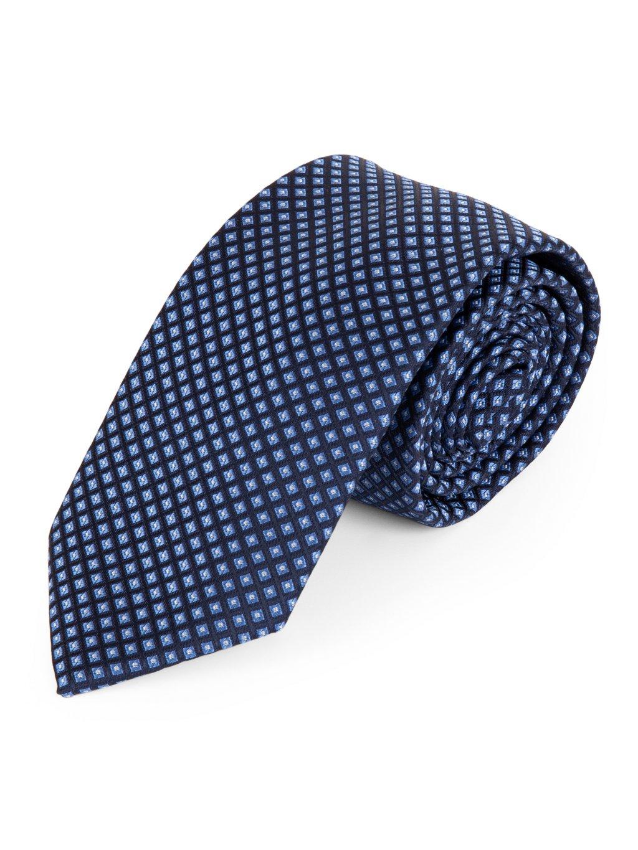 Kravata modrá se vzorem A130