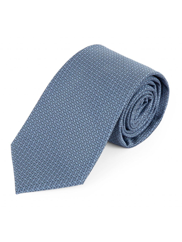 Kravata modrá vzorovaná A131