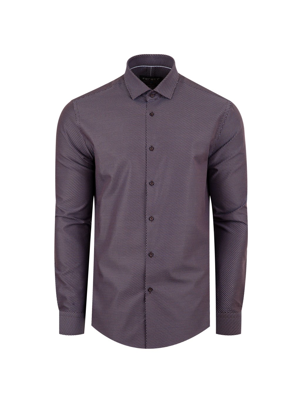 Pánská košile FERATT  JAMIE modern tmavě hnědá