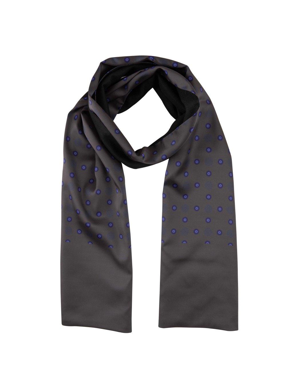 Šála FERATT AVILA černá modrý vzor