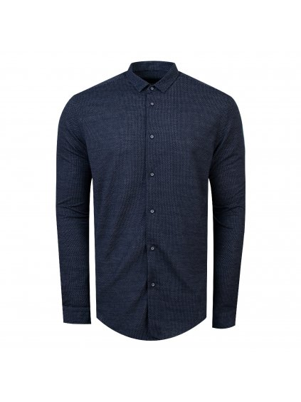 košile CHARLIE Modern tm. modrá