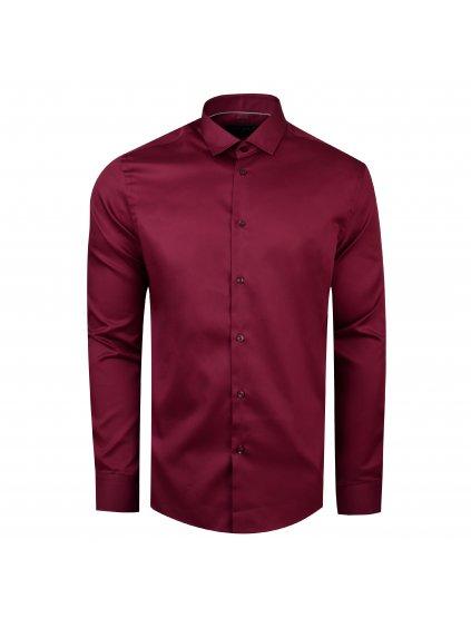 košile F-LINE Modern bordo