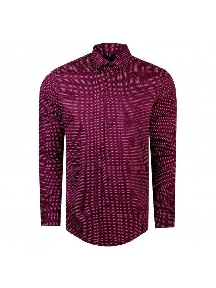 košile VALERIO Slim fit  fialová
