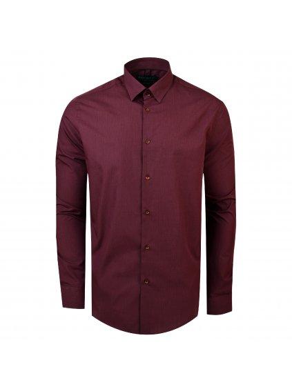Pánská košile FERATT TOM Modern bordó