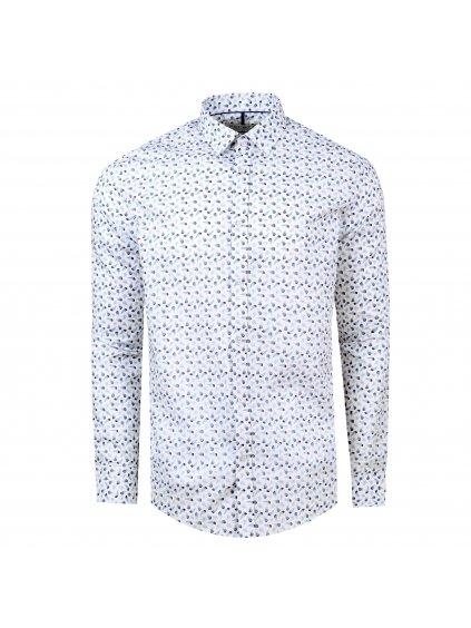 Pánská košile FERATT PLUME Slim bílá m.