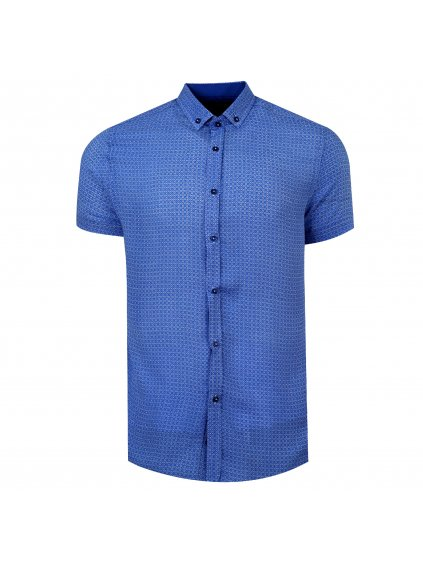 pánská košile FERATT FERNANDO Slim krátký r. sv.modrá