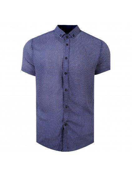 pánská košile FERATT FERNANDO Slim krátký r. modrá