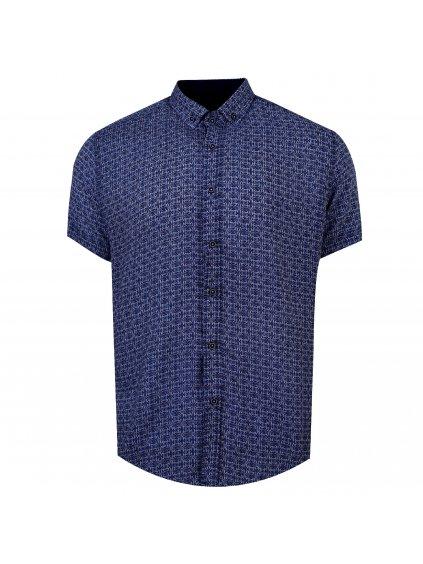 pánská košile FERATT BAMBOO Regular krátky rukáv modrá