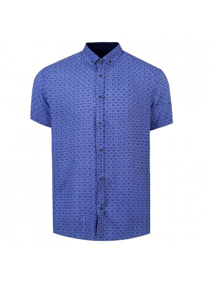 pánská košile FERATT BAMBOO Regular krátky rukáv - světle modrá