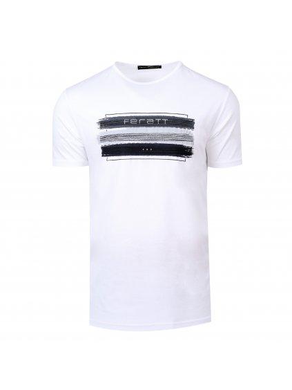 Tričko JEANS bílé