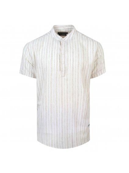 pánská košile FERATT FRANKIE Regular krátký r. béžová