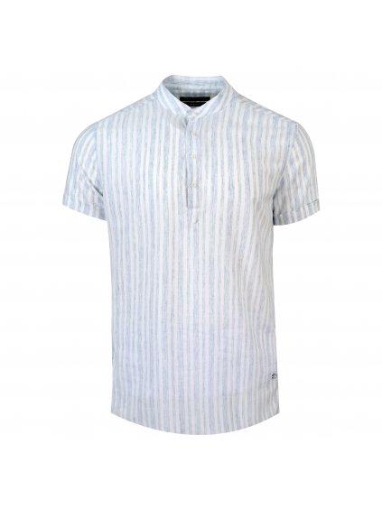 pánská košile FERATT FRANKIE Slim krátký r. světle modrá