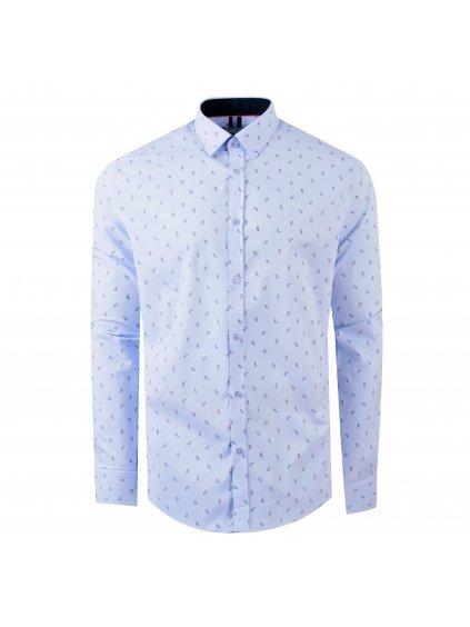 Pánská košile FERATT FRANCESCO Modern světle modrá