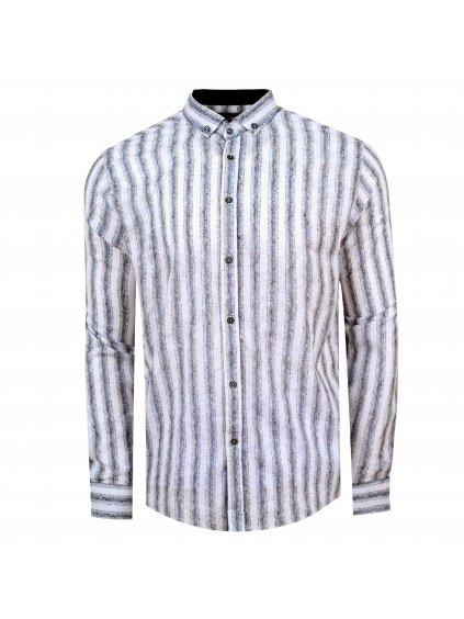 Pánská košile FERATT NORBERT Slim bíla m.
