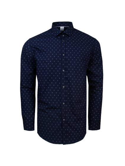 pánská košile FERATT ANCHOR Modern tm. modrá