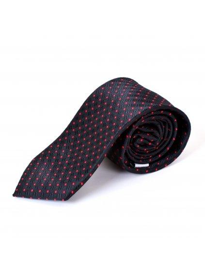 Kravata černá se vzorem F41