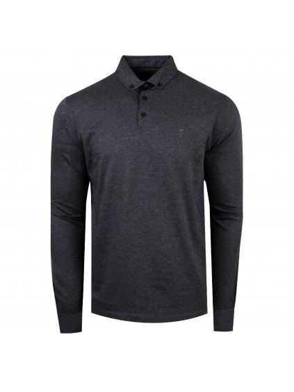 pánská polo košile FERATT Mark šedočerná