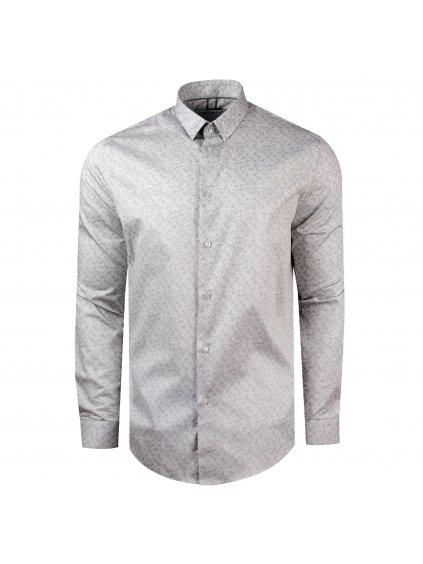 Pánská košile FERATT VITTORIO Slim šedá