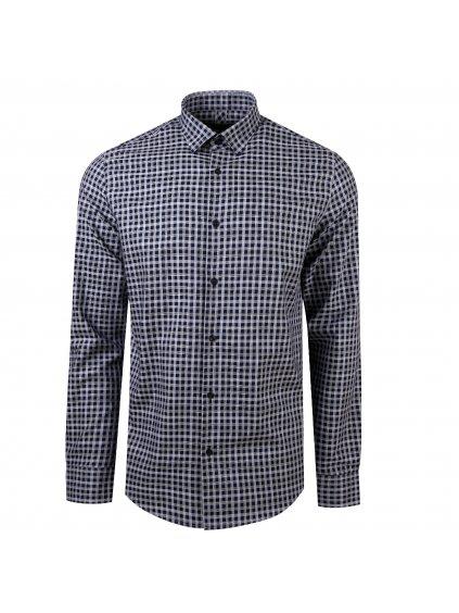 Pánská košile FERATT JOHN slim šedomodrá