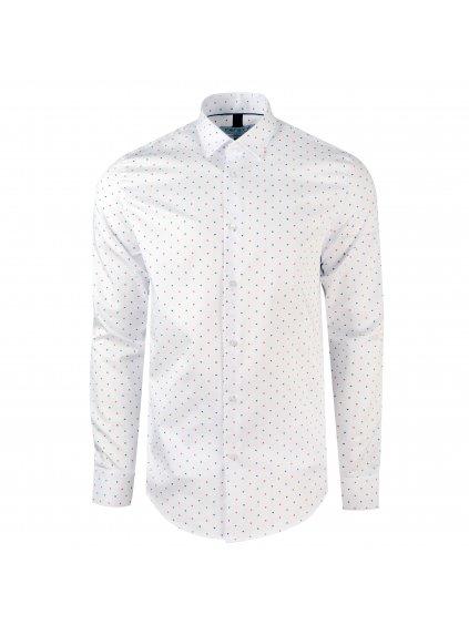 Košile JOHNNIE Slim bílá se vzorem I