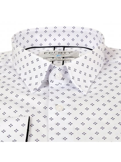 Košile JOHNNIE Regular bílá se vzorem I
