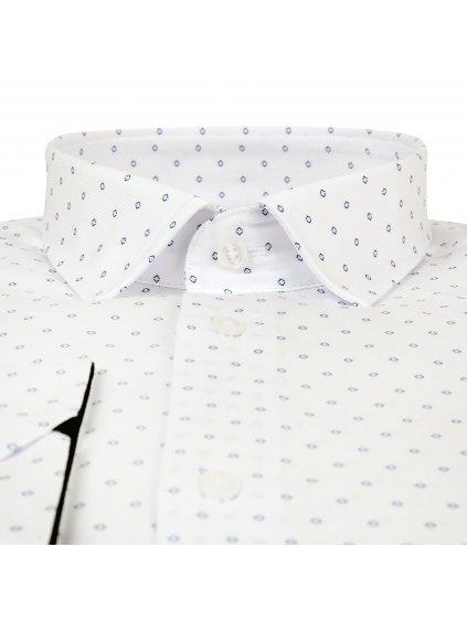 košile JOHNNIE Regular bílá - modrý vzor