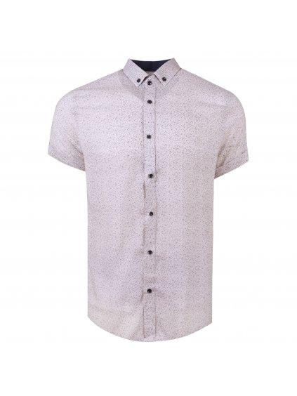 košile BAMBOO Slim fit krátký rukáv - béžová